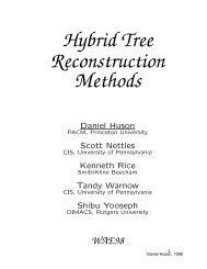 Hybrid Tree Reconstruction Methods