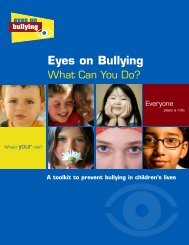Eyes on Bullying What Can You Do?