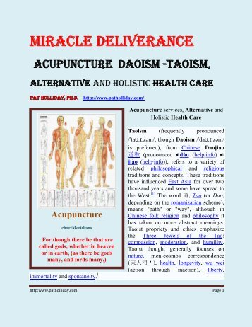 Acupuncture Daoism - Remnant Radio Home Page
