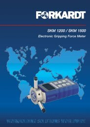 SKM 1200 / SKM 1500 - Forkardt