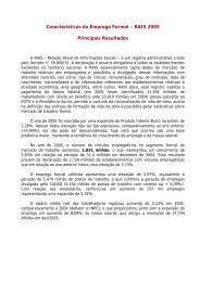 Resultados Definitivos - Ano Base 2005 - Ministério do Trabalho e ...