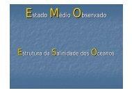Salinidade - Torre: Tempo e Clima - Universidade de Aveiro