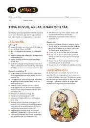 TEMA HUVUD, AXLAR, KNÄN OCH TÅR - Sanoma Utbildning