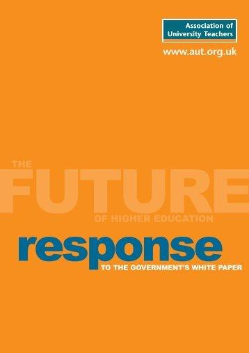 AUT white paper response - UCU