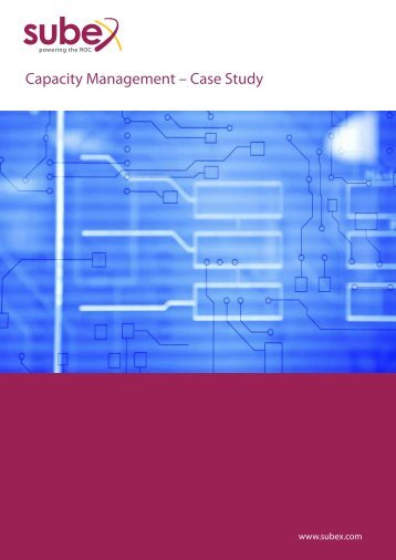 Capacity Management – Case Study - Subex