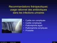 une infection urinaire - UCL