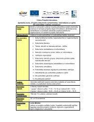 Projekta dokumentu nomenklatūra, noformēšana ... - Lubānas novads