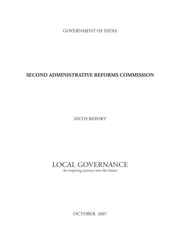Sixth report of Second Administrative Reforms Commission