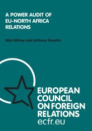 A PoWer AuDit of eu-North AfricA relAtioNs - EUROPEUM Institute ...