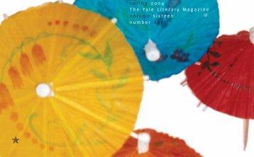 spring 2004 The Yale Literary Magazine volume ... - Yale University