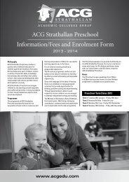 ACG Strathallan Preschool Enrolment Information and Application ...