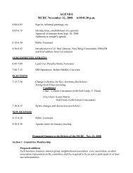 AGENDA MCRC November 12, 2008 6:00-8:30 p.m.