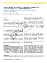 Sexual dysfunction during long-term treatment with antidepressants ...