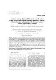 Apidologie 36 (2005) - Laboratoire de Zoologie