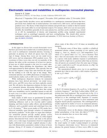 Electrostatic waves and instabilities in multispecies nonneutral ...