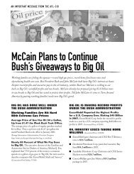 McCain Plans to Continue Bush's Giveaways to ... - Uswa12943.org
