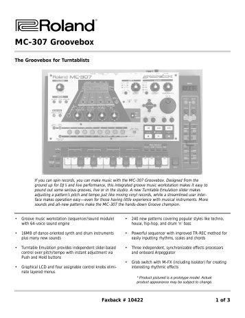 MC-307 FaxBack