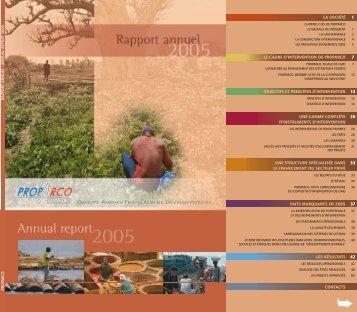 Télécharger le rapport annuel 2005 - Proparco