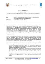 REACT Dushanbe Meeting Minutes, 29 January 2013 - UNDP in ...