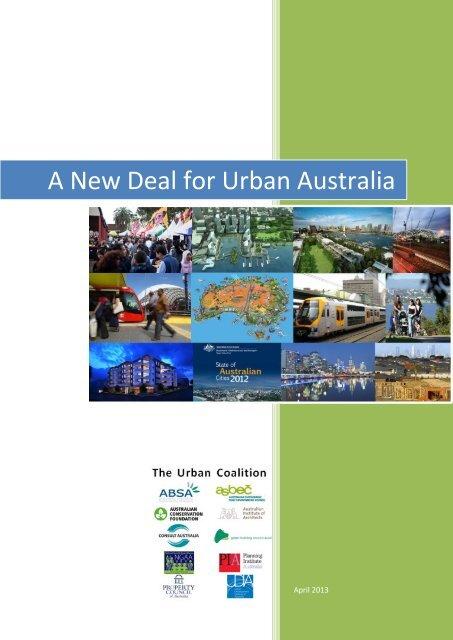 A New Deal for Urban Australia - Australian Conservation Foundation
