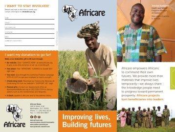 Africare's 2013 brochure