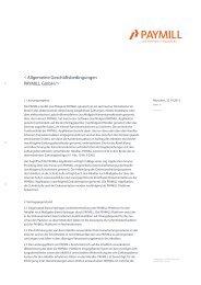 < Allgemeine Geschäftsbedingungen PAYMILL GmbH />