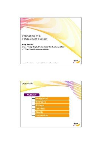 Validation of a TTCN-3 test system