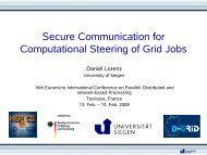 Secure Communication for Computational Steering of Grid Jobs
