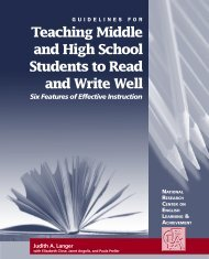 Teaching Middle and High School Students to Read and Write Well