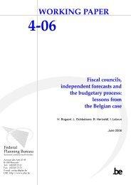 Publication - Bureau fédéral du Plan