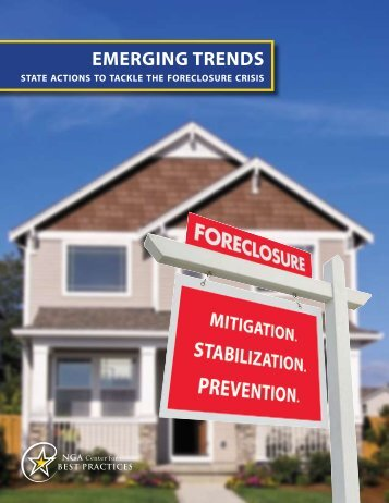 State Actions to Tackle the Foreclosure Crisis - National Governors ...