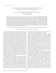 1622 sperm survival in female stalk-eyed flies depends on ... - BioOne
