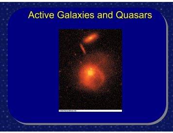 Active Galaxies and Quasars - FSU Physics Department