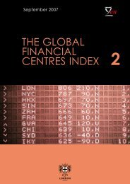 The global financial centres index (GFCI) 2 - Z/Yen