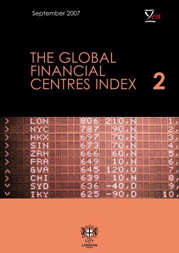 The global financial centres index (GFCI) 2 - Z/Yen