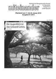 Pfarrbrief Nr. 2014-01 - Kath-Rastatt