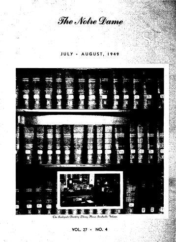 Notre Dame Alumnus, Vol. 27, No. 04 -- July - Archives - University ...