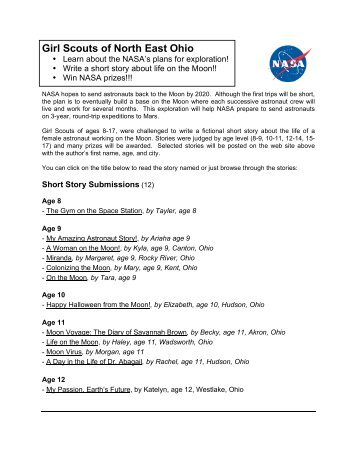 Girl Scouts of North East Ohio - Space Flight Systems - NASA
