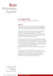 Dr. Jürgen Stark - Econ Referenten-Agentur