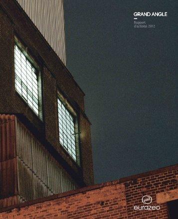 Rapport d'activité 2012 - Eurazeo
