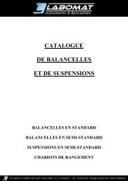 Mini catalogue balancelles et suspensions - Labomat