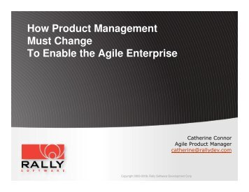 How Product Management must change to enable the agile ... - svpma