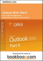 Outlook 2010: Part II - Mail, Contacts and Address book