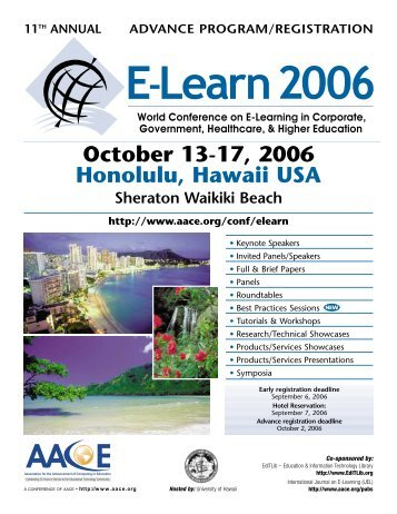 October 13-17, 2006 Honolulu, Hawaii USA - Association for the ...