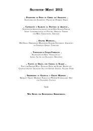 Abendkarte - Ristorante Golden Twenties