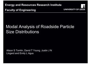 Modal Analysis of Roadside Particle Size Distributions - Cambridge ...
