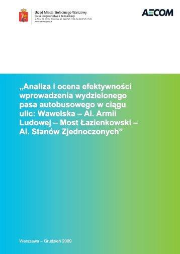 """""""Analiza i ocena efektywności wprowadzenia ... - SISKOM"""