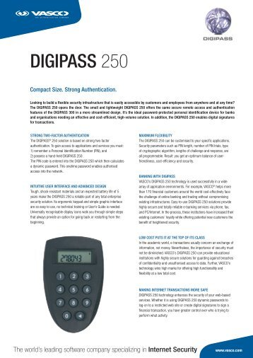 DIGIPASS 250 - Wick Hill