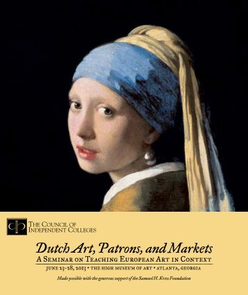 Dutch Art, Patrons, and Markets - The Council of Independent ...