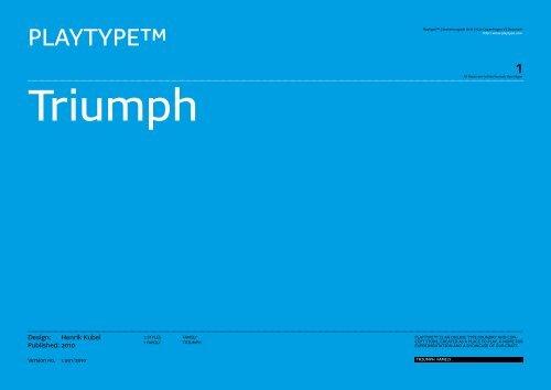 Triumph - Playtype
